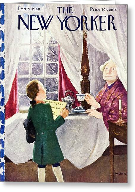 New Yorker February 21 1948 Greeting Card
