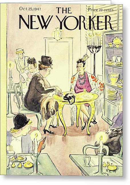 New Yorker October 25, 1947 Greeting Card