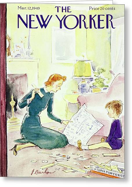 New Yorker March 12, 1949 Greeting Card