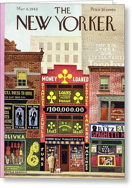 New Yorker March 6 1948 Greeting Card