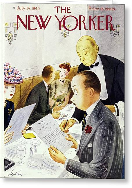 New Yorker July 14 1945 Greeting Card