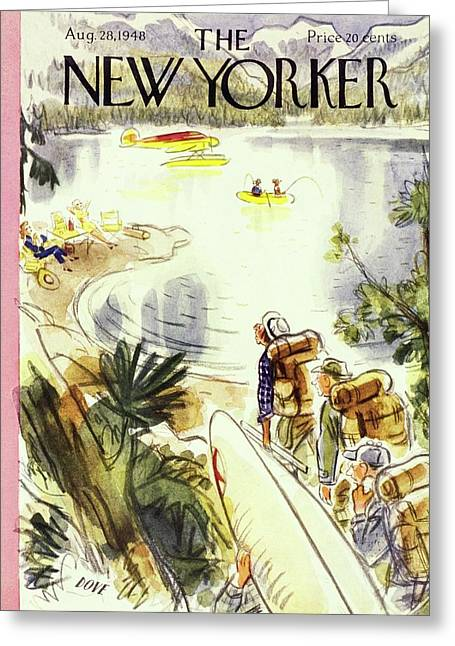 New Yorker August 28, 1948 Greeting Card