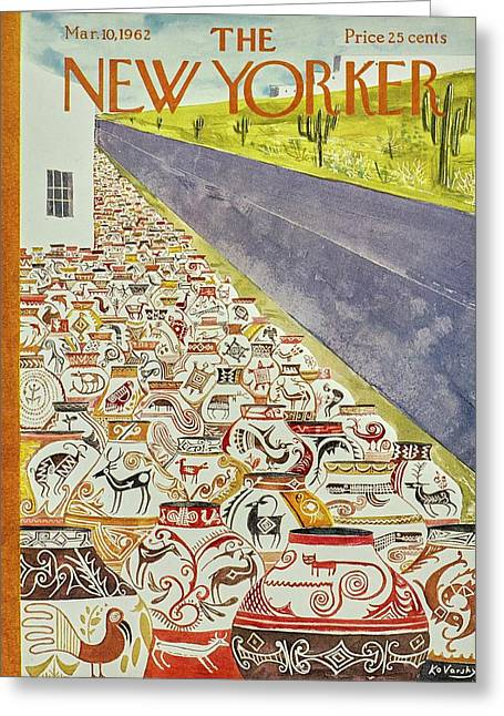 New Yorker March 10th 1962 Greeting Card