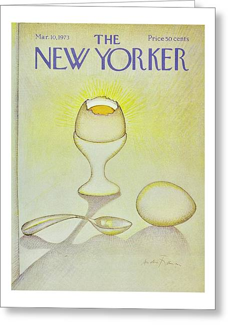 New Yorker March 10th 1973 Greeting Card