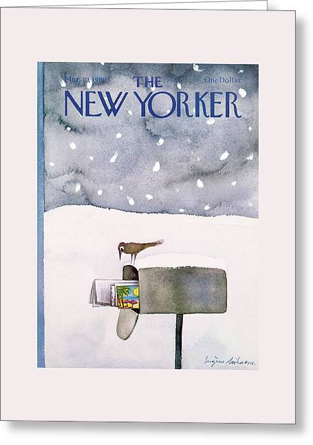 New Yorker March 10th, 1980 Greeting Card by Eugene Mihaesco