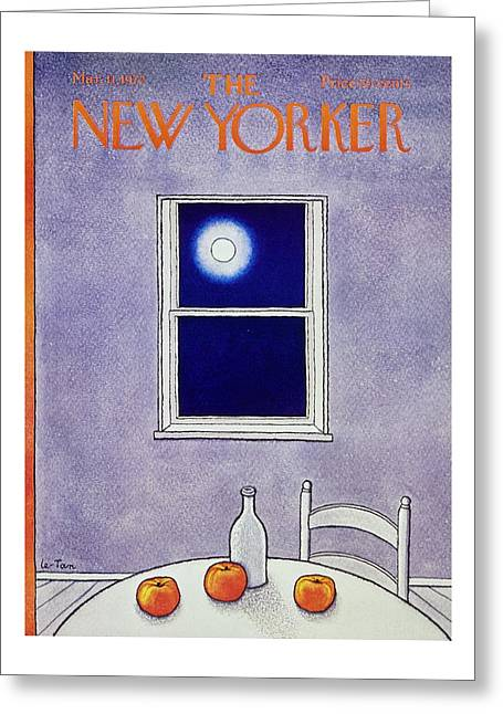New Yorker March 11th 1972 Greeting Card