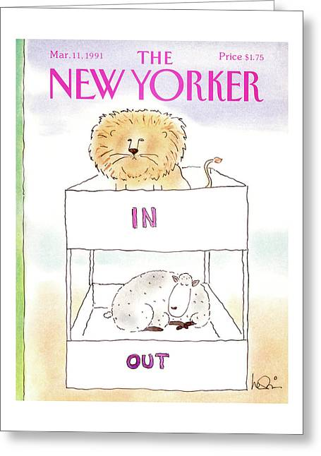 New Yorker March 11th, 1991 Greeting Card