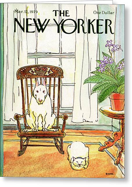 New Yorker March 12th, 1979 Greeting Card by George Booth