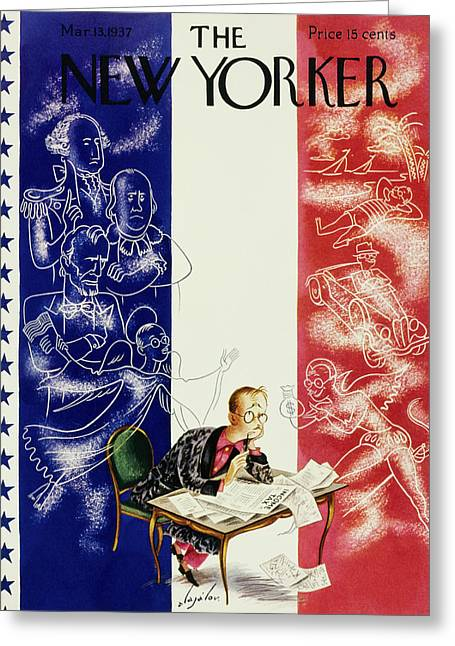 New Yorker March 13 1937 Greeting Card