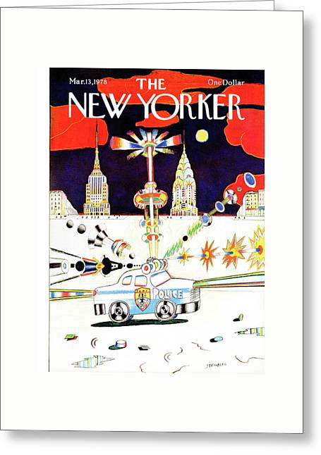 New Yorker March 13th, 1978 Greeting Card by Saul Steinberg