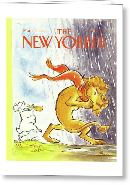 New Yorker March 13th, 1989 Greeting Card