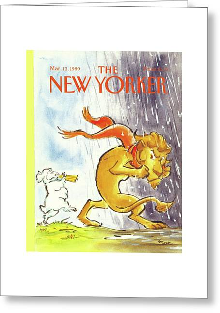 New Yorker March 13th, 1989 Greeting Card by Lee Lorenz