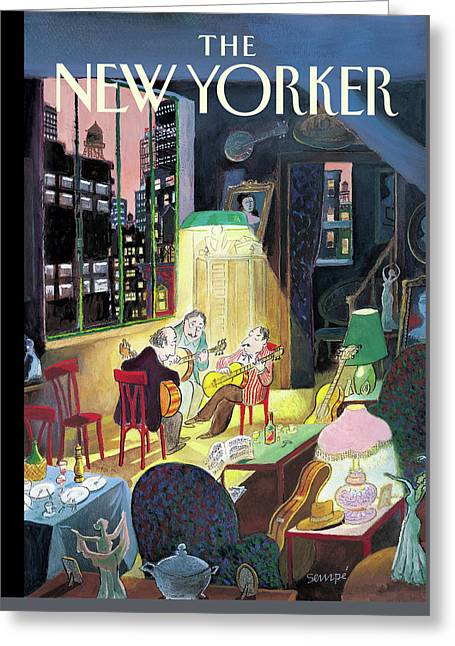New Yorker March 13th, 2006 Greeting Card by Jean-Jacques Sempe