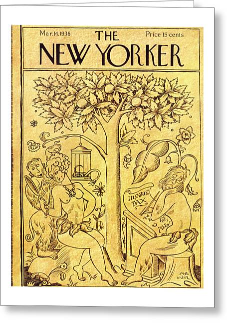 New Yorker March 14 1936 Greeting Card