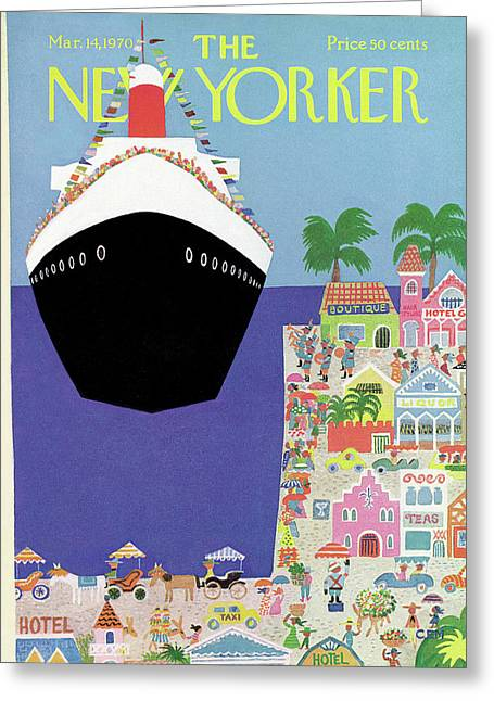 New Yorker March 14th, 1970 Greeting Card by Charles E. Martin