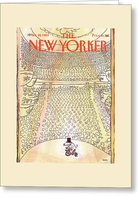 New Yorker March 14th, 1983 Greeting Card by George Booth