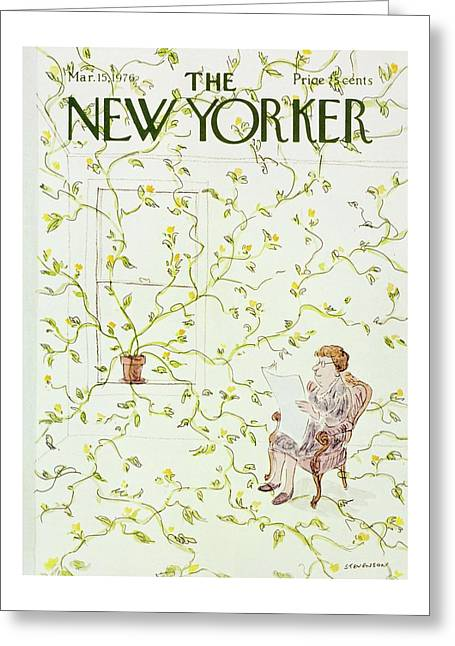 New Yorker March 15th 1976 Greeting Card