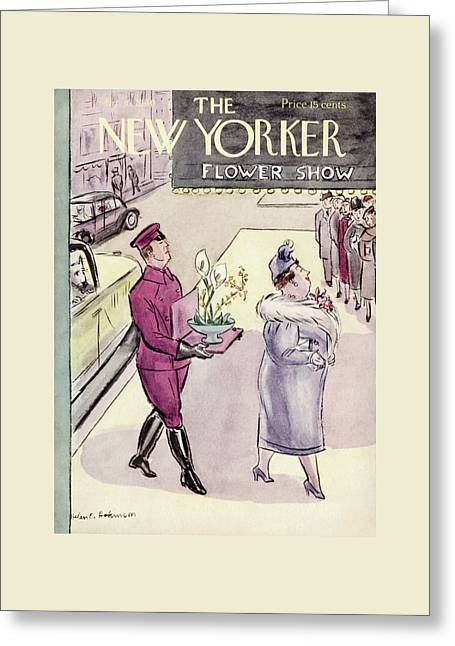 New Yorker March 16th, 1940 Greeting Card by Helen E. Hokinson