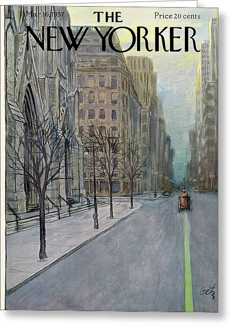 New Yorker March 16th, 1957 Greeting Card