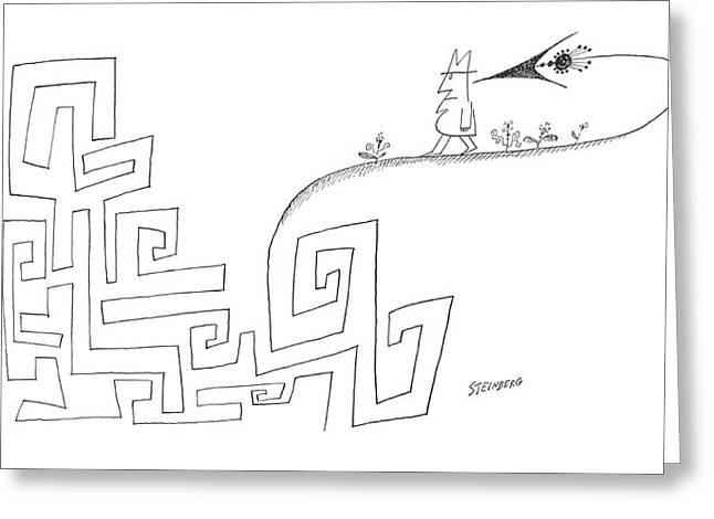 New Yorker March 16th, 1963 Greeting Card by Saul Steinberg