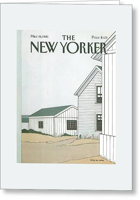 New Yorker March 16th, 1981 Greeting Card by Gretchen Dow Simpson