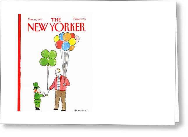 New Yorker March 16th, 1992 Greeting Card by Danny Shanahan