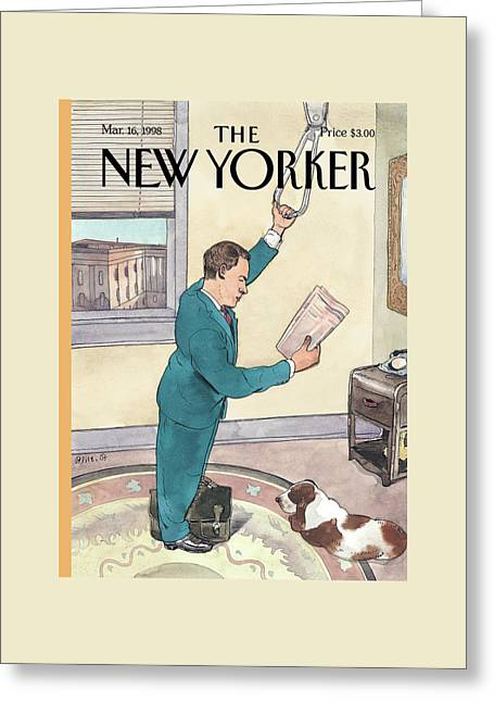 New Yorker March 16th, 1998 Greeting Card by Barry Blitt