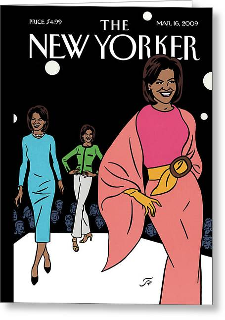 New Yorker March 16th, 2009 Greeting Card by Jean Claude Floc'h