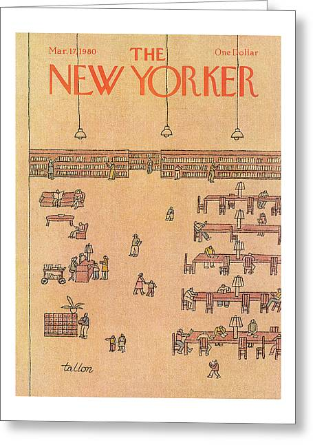 New Yorker March 17th, 1980 Greeting Card