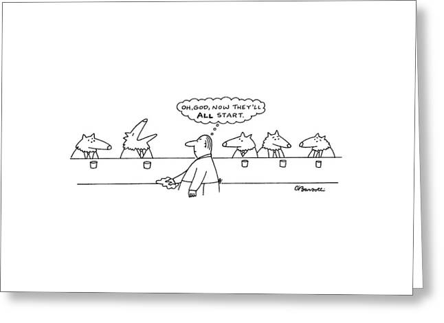 New Yorker March 17th, 1997 Greeting Card by Charles Barsotti