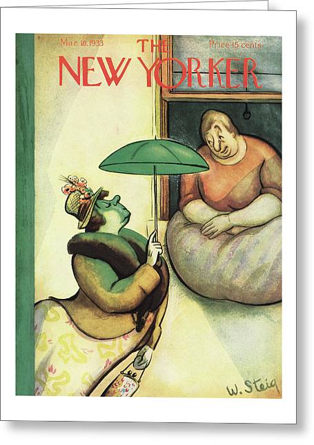 New Yorker March 18th, 1933 Greeting Card