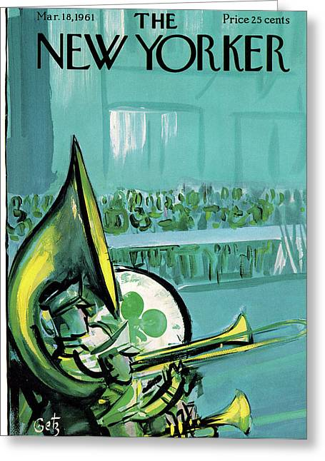 New Yorker March 18th, 1961 Greeting Card by Arthur Getz