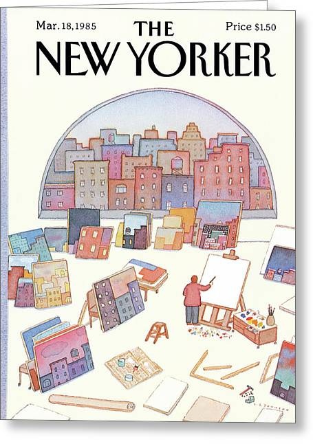 New Yorker March 18th, 1985 Greeting Card by Lonni Sue Johnson