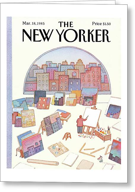 New Yorker March 18th, 1985 Greeting Card