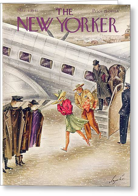 New Yorker March 1st, 1941 Greeting Card by Constantin Alajalov