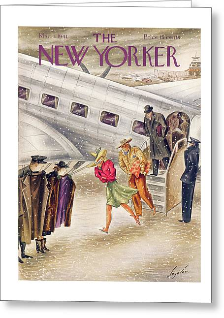 New Yorker March 1st, 1941 Greeting Card