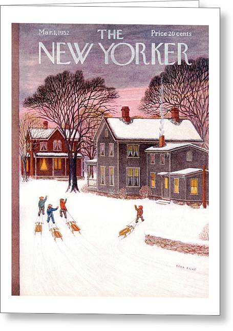 New Yorker March 1st, 1952 Greeting Card