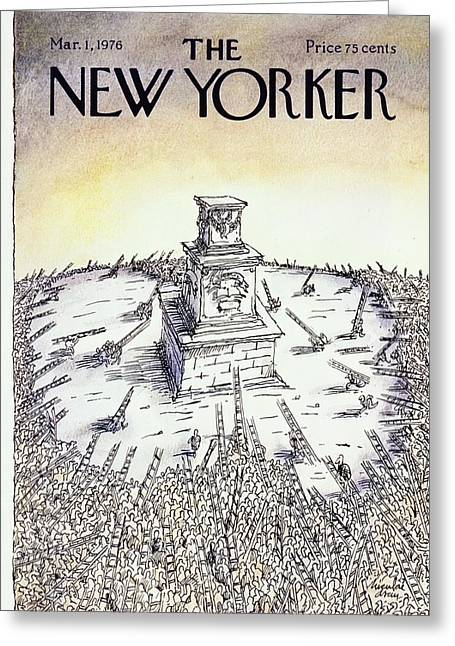New Yorker March 1st 1976 Greeting Card