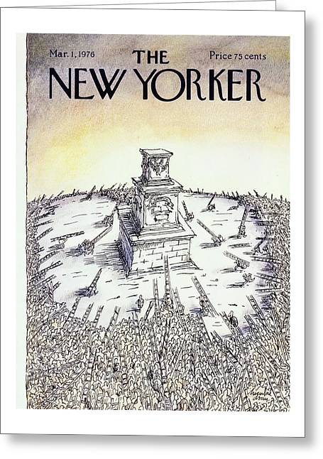 New Yorker March 1st 1976 Greeting Card by Niculae Asciu