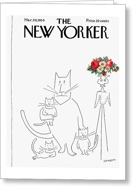 New Yorker March 20th, 1954 Greeting Card