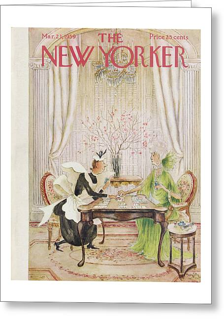 New Yorker March 21st, 1959 Greeting Card