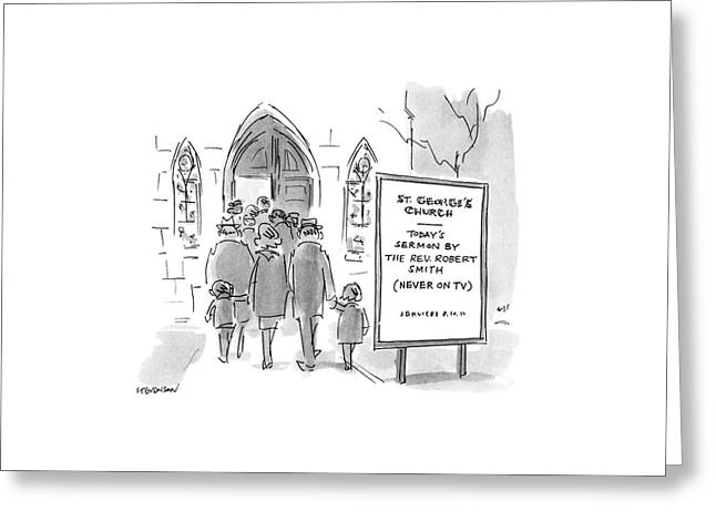 New Yorker March 21st, 1988 Greeting Card by James Stevenson