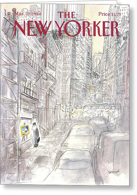 New Yorker March 21st, 1988 Greeting Card