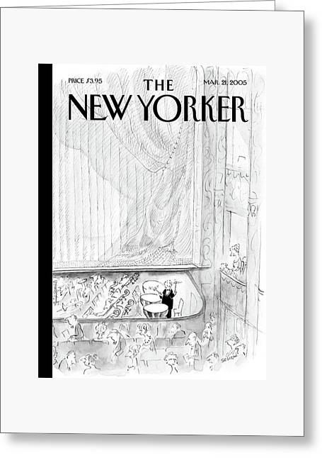 New Yorker March 21st, 2005 Greeting Card by Jean-Jacques Sempe