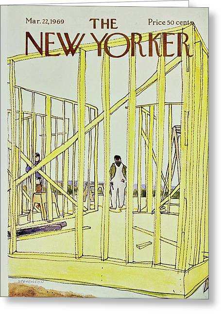New Yorker March 22nd 1969 Greeting Card