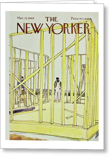 New Yorker March 22nd 1969 Greeting Card by James Stevenson