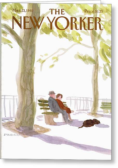 New Yorker March 23rd, 1981 Greeting Card by James Stevenson