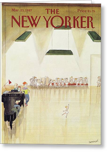 New Yorker March 23rd, 1987 Greeting Card by Jean-Jacques Sempe