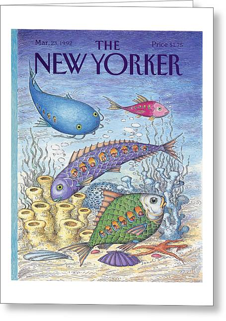New Yorker March 23rd, 1992 Greeting Card