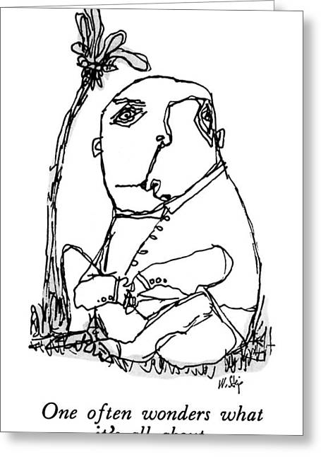 New Yorker March 23rd, 1992 Greeting Card by William Steig
